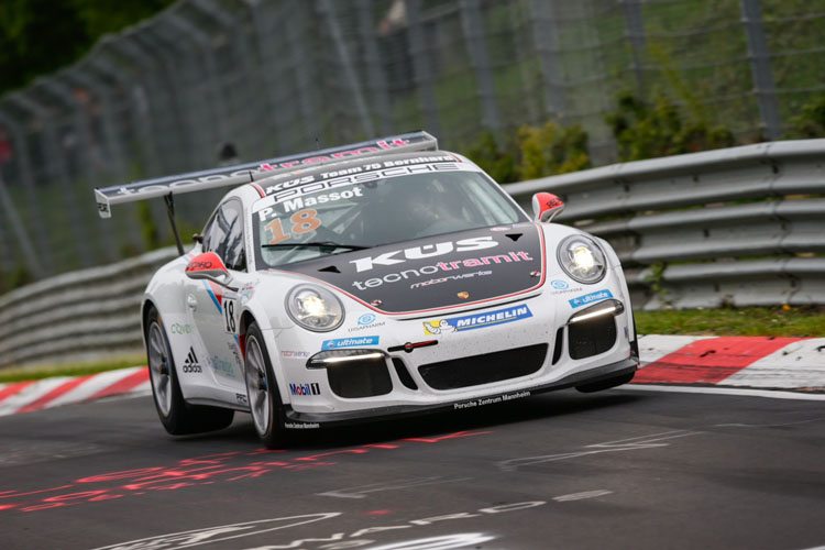 Massot in action at the Green Hell - Photo credit: Gruppe C GmbH