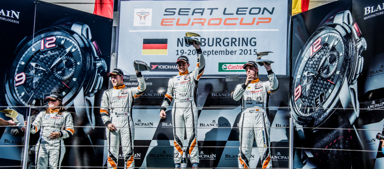 Morgan Celebrates Atop The Nurburgring Podium