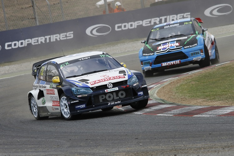 Ole Christian Vieby took victory in the FIA European Rallycross event in Spain (Credit: FIA World Rallycross Championship)