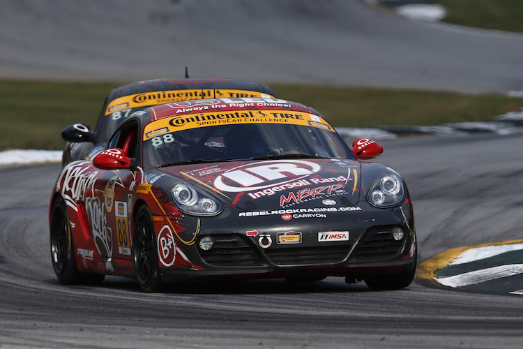 Fergus already had experience in a Porsche Cayman, with in the 2014 CTSC season (Credit: Michael L. Levitt/LAT Photo USA/IMSA)
