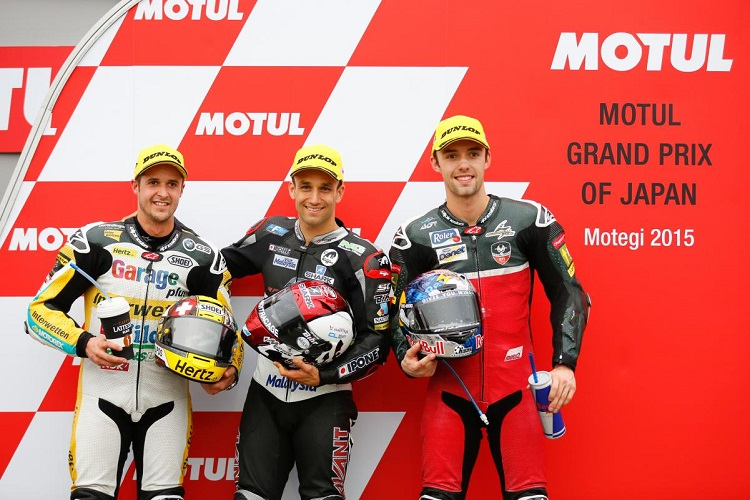The top three qualifiers in Japan (Photo Credit: MotoGP.com)