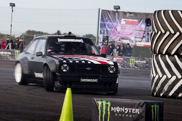 Block's Ford Escort MKII is expected to appear in Gymkhana 8 - Credit: Monster Energy / Dan Fegent
