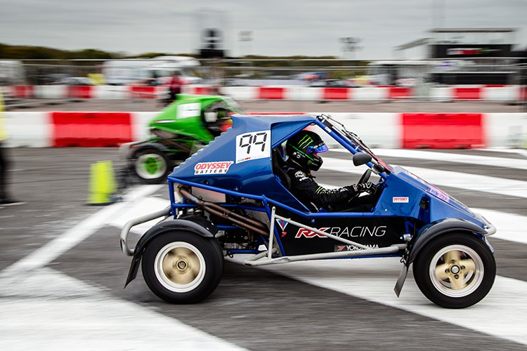 Liam Doran in action in the buggy - Credit: Andi Gordon/Monster Energy