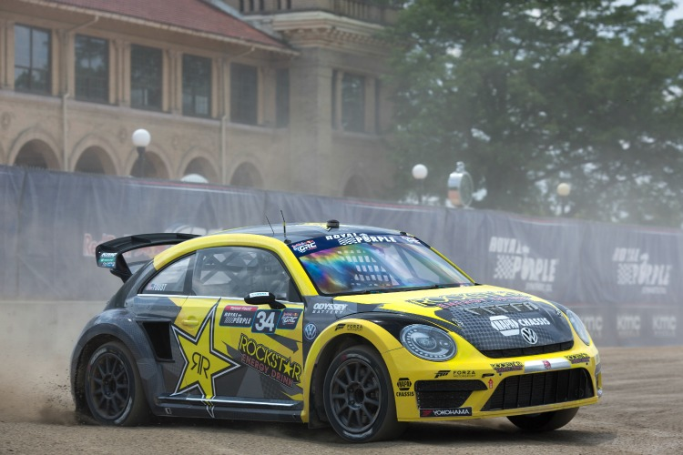 Tanner Foust failed to reach the podium after his early season triumph - Credit: Larry Chen/Red Bull GRC
