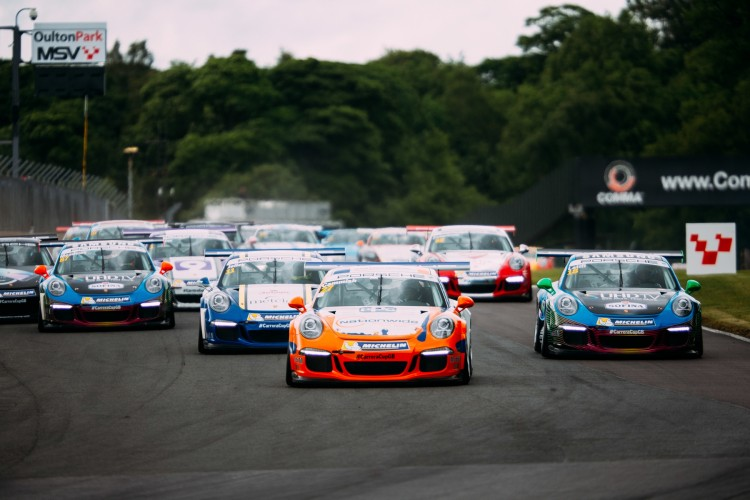 All four finalists want to be in the Carrera Cup in 2016. (Credit: Malcolm Griffiths)
