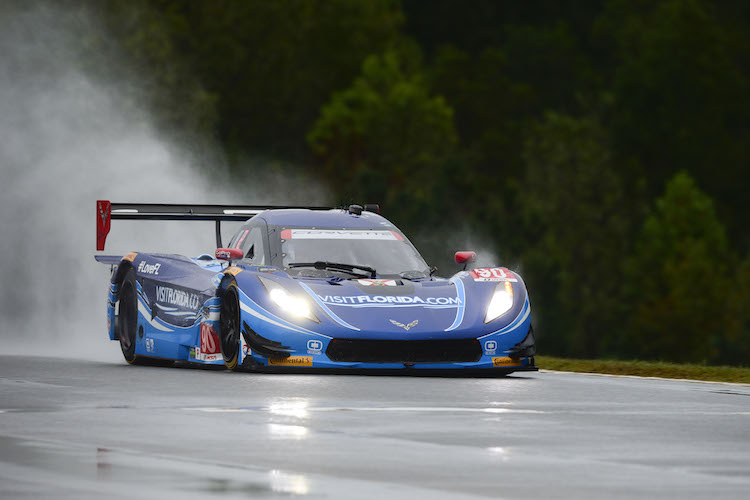 Westbrook and Valiante's championship hopes are in jeopardy following a crash by Mike Rockenfeller (Credit: Richard Dole/LAT Photo USA/IMSA)