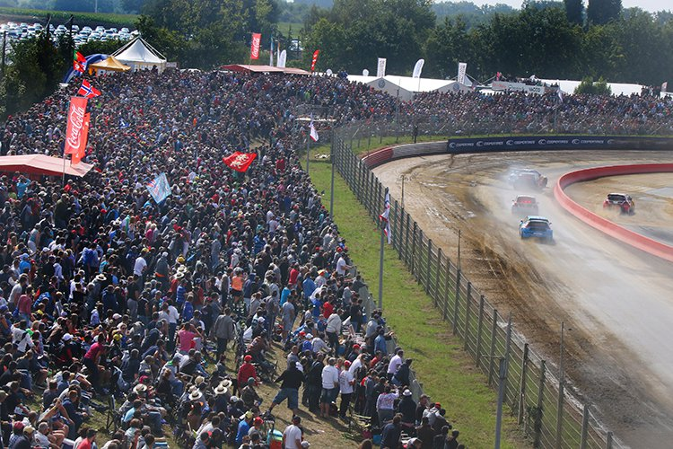 The crowds at Round 9 in Loheac, France of the 2015 championship - Credit: IMG / FIA World Rallycross