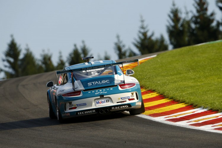 Ammermüller at Spa before things went horribly wrong. (Credit: Porsche AG)