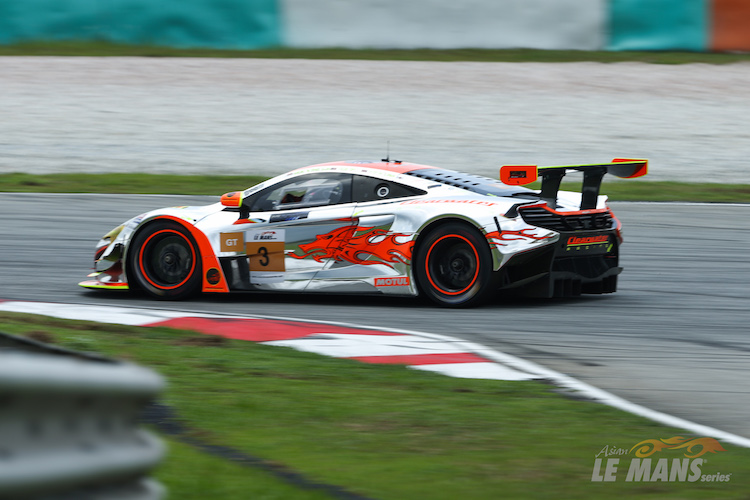Rob Bell took the chrome-effect McLaren to pole in GT (Credit: AsLMS)
