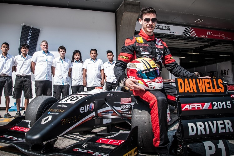 Dan Wells dominated the Asian Formula Renault championship (Credit: Dan Wells and Investors Limited)