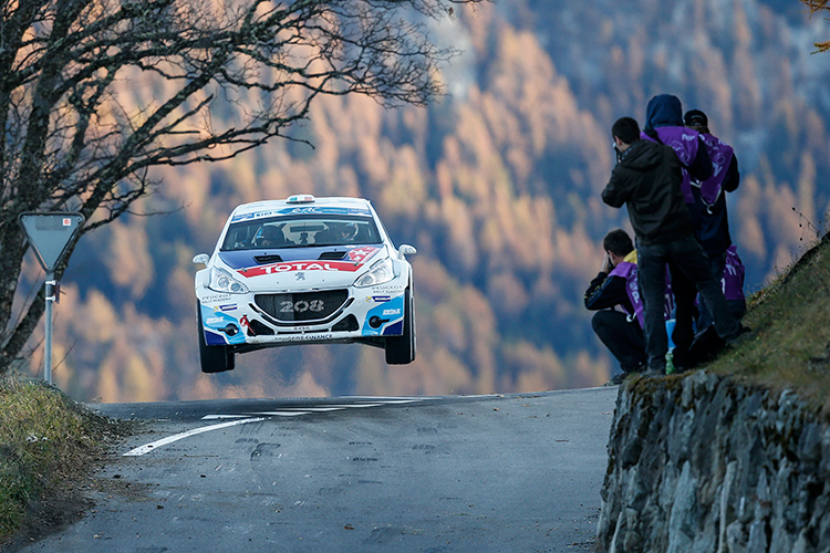 Breen looked set for victory at Rallye du Valais before a penalty - Credit: FIA ERC