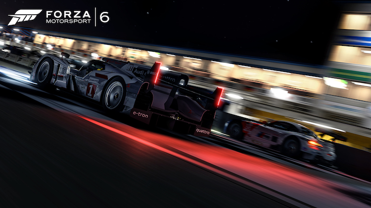 Battling traffic, at Le Mans, at night, is a thrill that can't be beaten (Credit: Forza Motorsport)