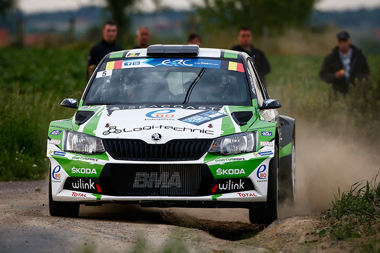 Freddy Loix took the ŠKODA Fabia R5 to its maiden victory in ERC - Credit: FIA ERC