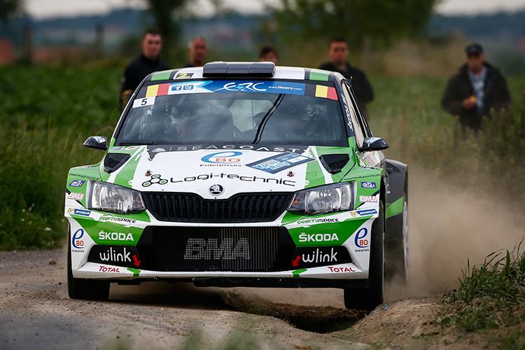 Freddy Loix took the ŠKODA Fabia R5 to its maiden victory in ERC - Credit: FIA ERC
