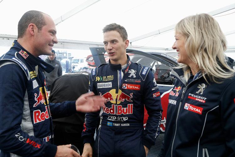 Jeanney, Timmy Hansen & Susann Hansen - Credit: Peugeot