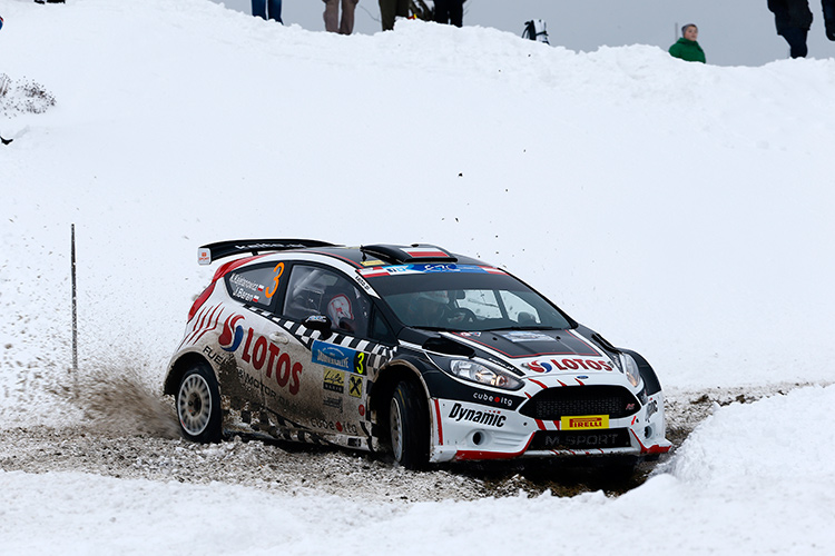 Domination from Day 1, Kajetanowicz took victory in the opening round - Credit: FIA ERC