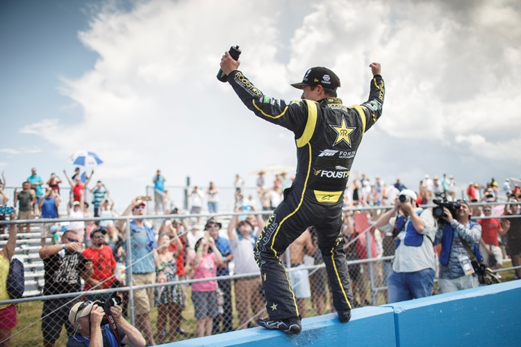 Tanner Foust wins at Red Bull Global Rallycross, in Daytona Beach, FL, USA on 20 June, 2015