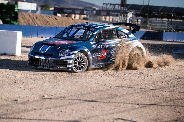 Scott Speed in practice at Red Bull Global Rallycross Las Vegas on 3rd of November, 2015 in Las Vegas, NV USA.