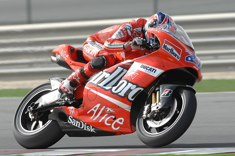 Stoner on his way to the 2007 title with Ducati (Photo Credit: Ducati)