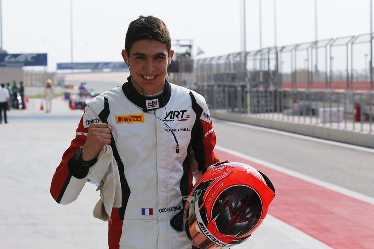 2015 GP3 Series Round 8. Bahrain International Circuit, Bahrain Thursday 19 November 2015. Esteban Ocon (FRA, ART Grand Prix)  Photo: Sam Bloxham/GP3 Series Media Service. ref: Digital Image _SBL3331
