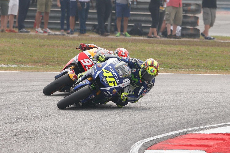 The Battle of Sepang that soon turned sour... (Photo Credit: MotoGP.com)