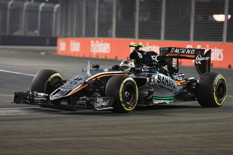 Sergio Perez secured a podium finish in Russia (Credit: Octane Photographic Ltd)