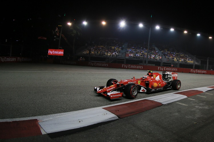 Kimi Raikkonen took three podiums and finished fourth in the championship (Credit: Octane Photographic Ltd)