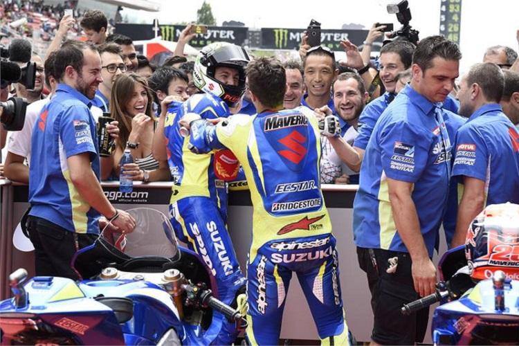 The Suzuki pair shocked the world in Barcelona (Photo Credit: Suzuki Racing)
