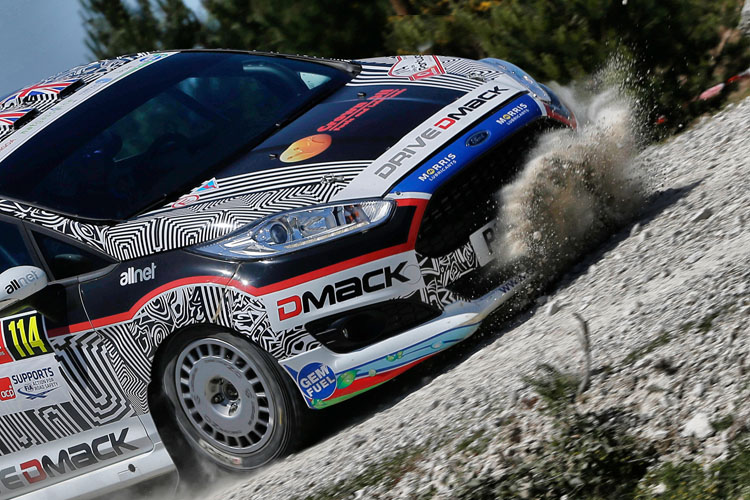 Greensmith in action on Rally Portugal