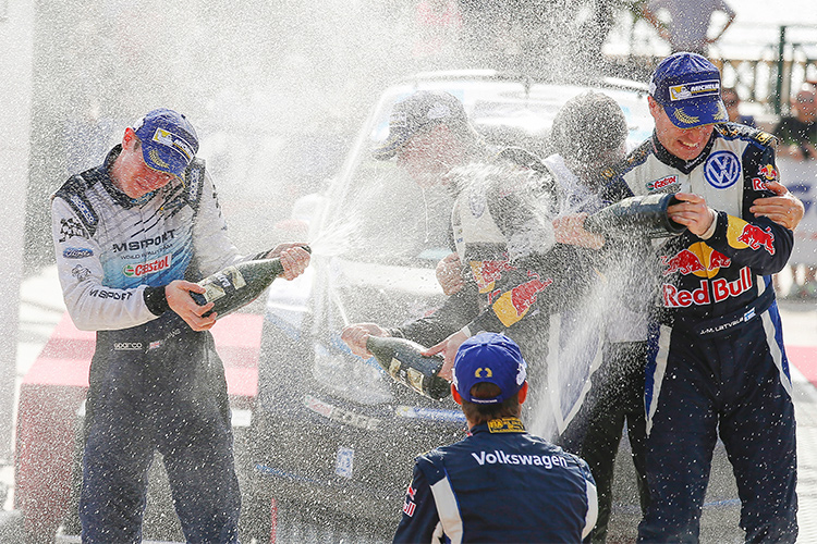 Evans reached the podium in Corsica last year and will be looking to spray the champagne once again in 2016
