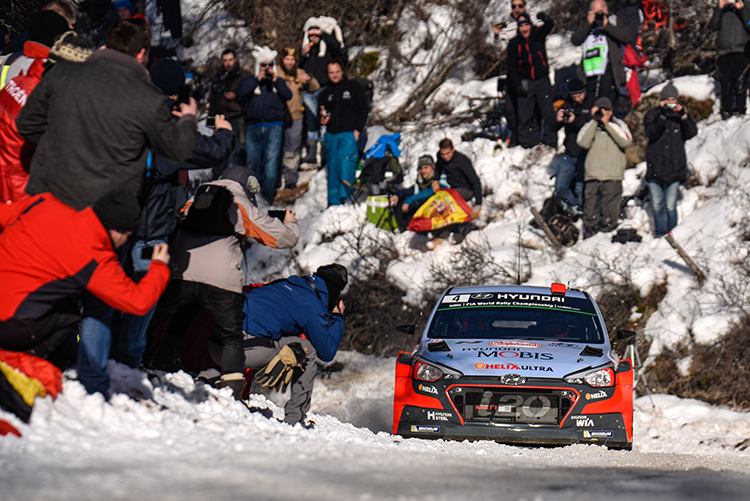 Dani Sordo struggled with his New Generation i20 WRC and hopes for better on Saturday. (Credit: Hyundai Motorsport)
