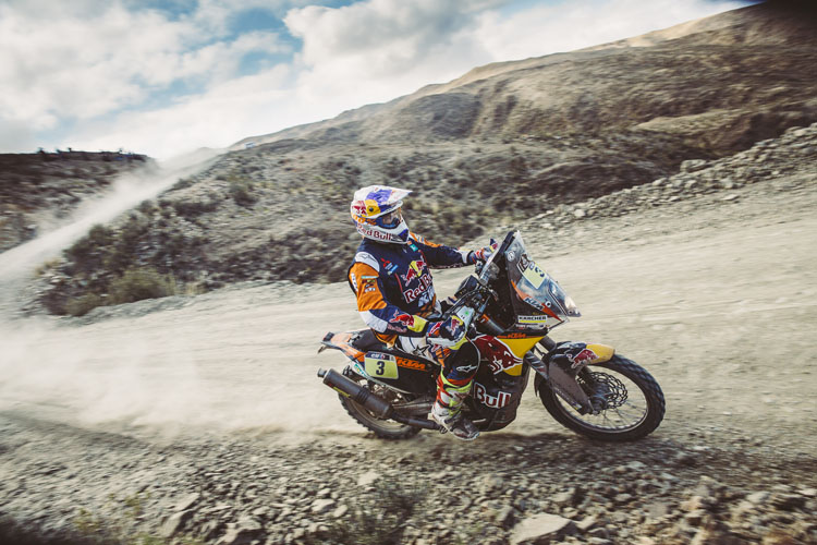 Toby Price en route to another stage win - Credit: Flavien Duhamel/Red Bull Content Pool
