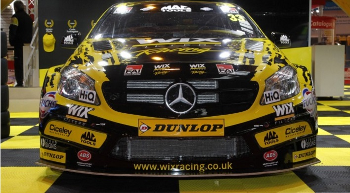 The WIX Racing Mercedes livery was revealled at ASI - Photo: BTCC Media