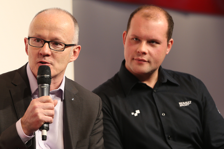 Fewkes (Right) Appeared On The Autosport Stage Alongside .......... Jeremy Townsend Last Week - Credit: Jakob Ebrey Photography