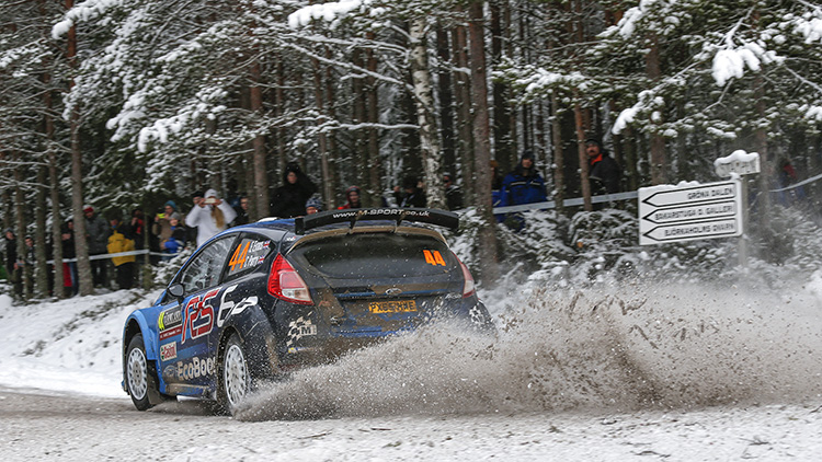 Elfyn Evans continued his impressive start to the season by clinching WRC2. (Credit: McKlein/M-Sport)