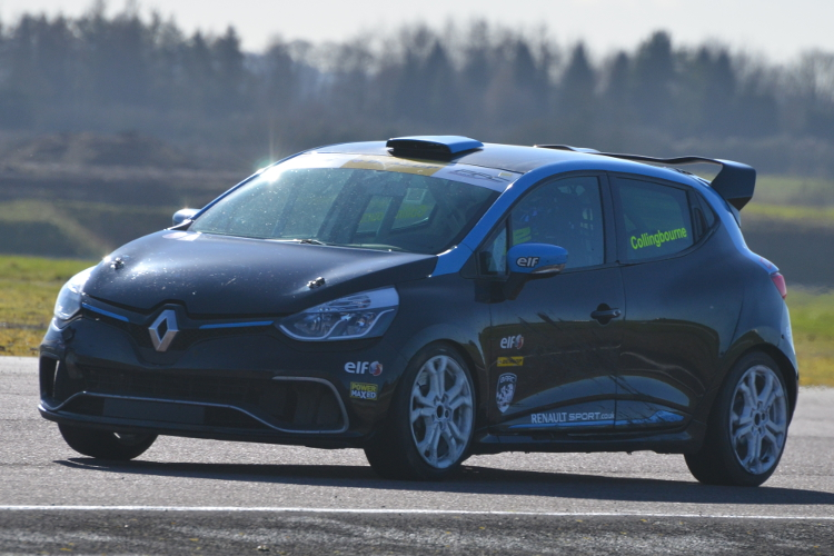Collingbourne Tested His Team Cooksport Clio At Thruxton - Credit: Simon Paice Media