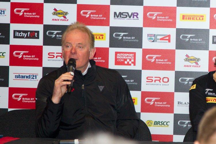 MSV boss Jonathan Palmer talks to the media.