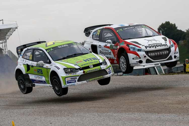 Tommy Rustad and Jerome Grosset-Janin in Italy Credit: IMG / FIA World RX