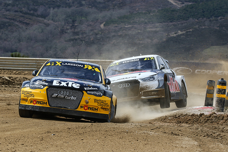 Larsson impressed to take second place in the final - Credit: World Rallycross Championship / IMG