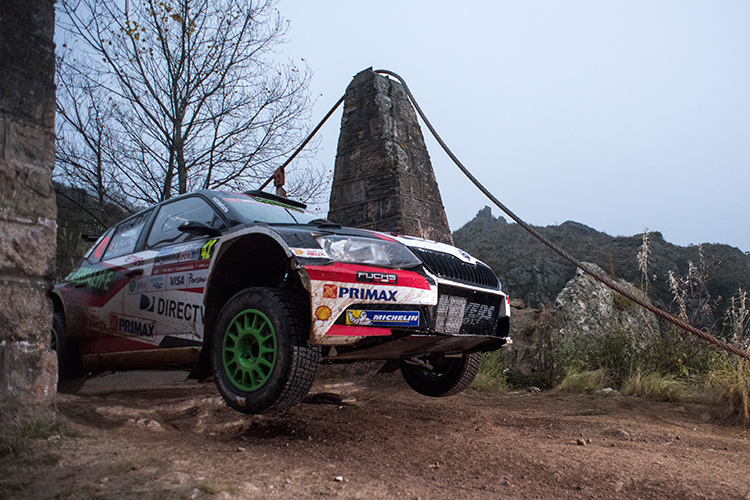 WRC 2 winner Nicolás Fuchs in action - Credit: Jaanus Ree/Red Bull Content Pool