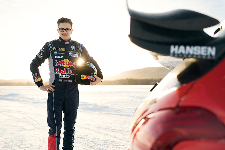 Kevin Hansen will be looking to emulate the success of his elder brother Timmy as he goes head-to-head - Credit: Red Bull Content Pool / Oskar Bakke