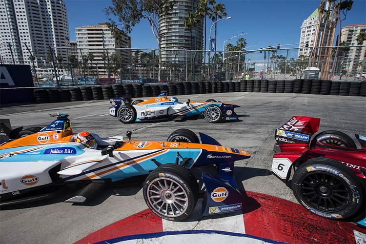 Team Aguri - Long Beach 1 - Credit: FIA Formula E
