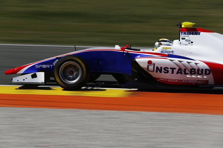 2016 GP3 Series Test 2 - Circuit Ricardo Tormo, Valencia, Spain. Thursday 7 April 2016. Artur Janosz (POL, Trident)  Photo: Sam Bloxham/GP3 Series Media Service. ref: Digital Image _R6T7640