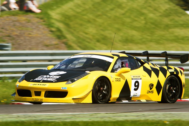 The #9 FF Corse Ferrari at Snetterton in the Britcar Endurance Championship.