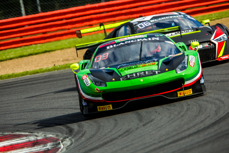 The Rinaldi Racing Ferrari was first when it mattered in the Am Cup (Credit: Nick Smith/TheImageTeam.com)