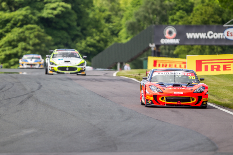 The PMW World Expo Racing Ginetta would win yet again but the Ebor Maserati ran them close (Credit: Nick Smith/TheImageTeam.com)