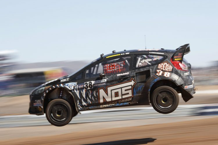 Deegan once again won the LCQ - Credit: Larry Chen/Red Bull Global Rallycross
