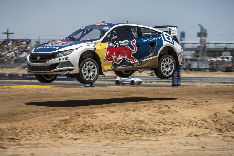 Sebastian Eriksson drove the new Honda Civic to it's first podium finish - Credit: Garth Milan/Red Bull Content Pool