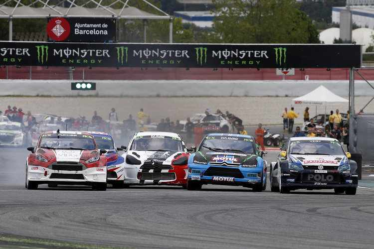 The startline at Barcelona in Spain Credit: IMG/ FIA World RX