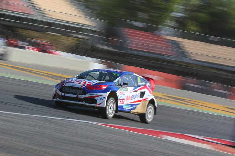 Peter Hedstrom in his Ford Fiesta Credit: IMG / FIA World RX